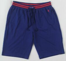 POLO Ralph Lauren Blue Red Pajamas Lounge Sleep Shorts Red Pony NWT