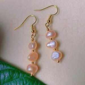 Fashion natural white Square Baroque Pearl Earring 18k Ear Stud Halloween