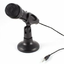 Technotech 3.5mm Table Top Microphone with Stand (Black) for Laptop, PC, Desktop
