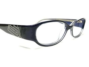 Coach Lucinda HC 2011 Womens Navy Blue Modern Rx Eyeglasses Frames 51/15~135