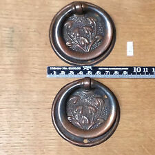 A set of two  Arts & Crafts drawer handles