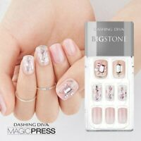 [DASHING DIVA] Magic Press Gel Nail Art Manicure 30 pcs HESTIA (BIGSTONE)