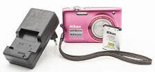 Nikon Coolpix S3100 Digitalkamera 14 Megapixel Nikkor 4.6-23mm Optik pink