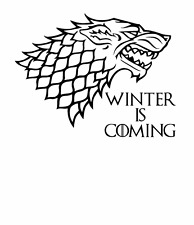 House Stark Aufkleber ca 20x15 cm Game of Thrones ANSEHEN