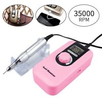 35000RPM Electric Nail Art File Drill Bit Machine Kit Manicure Pedicure Tool Set
