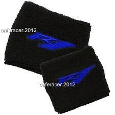 YAMAHA R1 BRAKE/CLUTCH RESERVOIR SOCKS FLUID TANK OIL CUP COVER SET BLACK&BLUE