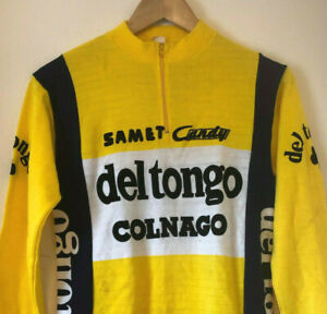 Original 1980s Del Tongo Colnago Cycling Jersey, Long Sleeve