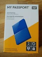 Western Digital 2TB My Passport USB 3.0 WDBS4B0020BBL-WESN Portable HD - (G4)