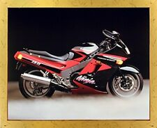 Kawasaki Ninja Zx11 Ron Kimball Motorcycle Art Print Decor Golden Framed Picture
