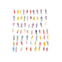 100Pcs Mini HO Scale 1:100 Painted Model People Mix Painted Model  Figures FT
