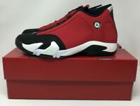 New Nike Air Jordan 14 Gym Red Retro Toro Black White 487471 006 Size 9.5 Men's
