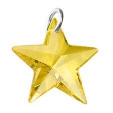 Yellow Swarovski Crystal Star Charm