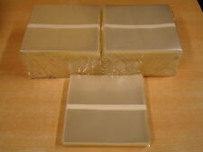 """1000 CRYSTAL CLEAR PLASTIC SINGLE SLEEVES FOR 7"""" RECORDS 186 x 186 x 0,10 mm"""