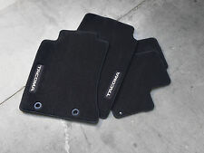 4-Piece Black Carpet Floor Mat for 2012-2013 Toyota Tacoma Double Cab-New,OEM