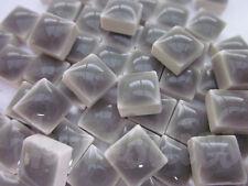 100pcs - 110grams Micro Ceramic Mosaic Tiles Metallic Grey BK3