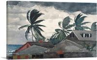 ARTCANVAS Hurricane - Bahamas 1898 Canvas Art Print by Winslow Homer