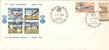 Italy Olympische Spiele Olympic Games 1960 Cancel Piazza de Siena & posterstamp