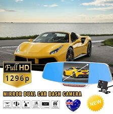 "5"" LCD Dash Cam Dual Camera Reversing Recorder Car DVR Video 170° FHD 1080P"