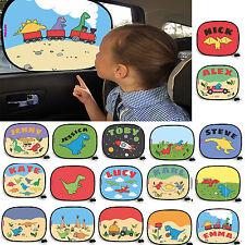 Personalised Car Window Dinosaur Cartoon Visor kids sunshade sun shade blind