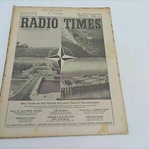 BBC Vintage Radio Times Magazine April 2nd, 1954 [G+] Five Years of N.A.T.O. ...