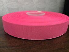 "1m Rosa Glitter GROS Grain Nastro, 7/8"" 22mm, Capelli Fiocchi Torte Craft Scrapbooking"