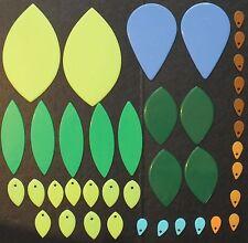 ELLO LEAF SHAPES x 39. MIXED COLOURS.  UK DISPATCH
