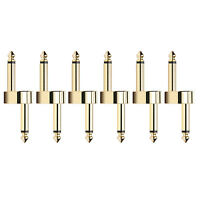 Donner Z Type Pedal Couplers 6 Pack 1/4 inch Metal Guitar Effect Connector
