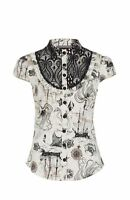 JAWBREAKER OCTOPUS NAUTICAL LACE BLOUSE TOP GOTH STEAMPUNK 8-16 TATTOO NEW TAGS