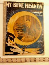My Blue Heaven - vintage sheet music by Walter Donaldson and G. Whiting