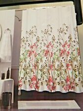 Canvas Fabric Shower Curtain Lincoln Park New 70 x 72 Multi-Color New