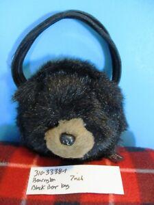 The Bearington Collection Black Bear Bag Purse (310-3338-1)