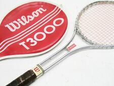"Vintage 70s WILSON T-3000 27"" tennis racquet, grip 4 1/2"" Jimmy Connors"