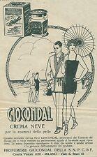 W3022 GIOCONDAL crema neve - Pubblicità 1929 - Advertising