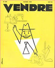 ▬►MARKETING PUBLICITÉ  -- VENDRE N° 296 (OCTOBRE 1954) --  COVER R.DANDRIEUX