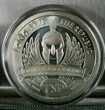 1 oz .999 silver Sentinel 2nd amendment AR15 AK47 300 molon labe gun spartan TSP