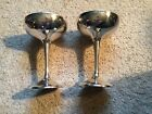 Pair Of Vintage International Silver Co Plated Champagne Cups