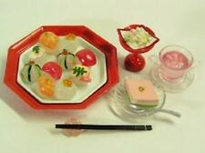Re-ment dollhouse miniature sushi sakura tea glass dessert