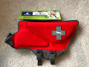 Top Paw NWT Neoprene Reflective Dog Life Jacket Large 55-85 lbs. Red NEW