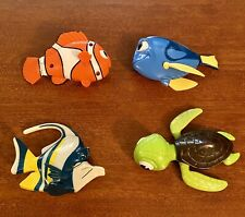 Disney's Finding Nemo Lot of (4) Figures Bath Toys 2003 McDonalds Toys ~ Loose