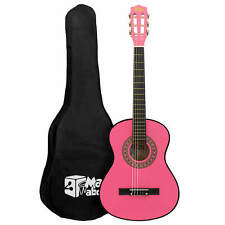 More details for pink 1/2 classical guitar by mad about - colourful guitar with bag