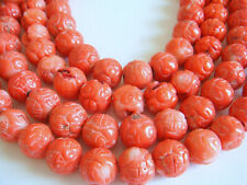 """Carved Shape 13-14mm Red Coral 16"""" Inches Stones Beads !^"""