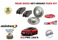 FOR KIA PRO CEED 1.6 1.6TD 2013-> NEW REAR BRAKE DISCS SET AND DISC PADS KIT