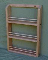 Unfinished Alder Triple Shelf Spice Rack