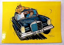 carte postale gil jourdan tillieux  voiture mercedes