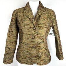 ERIN LONDON Textured Three Button Women Blazer. Size S. NWT.