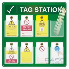 Lockout Tags Station - Wall Mounted With 8 Pockets 143mm X 80mm