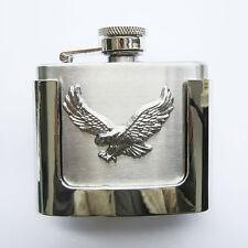 "*"" Flachmann "" Adler Eagle Flask Schnaps-Flasche Gürtelschnalle Belt Buckle  585"