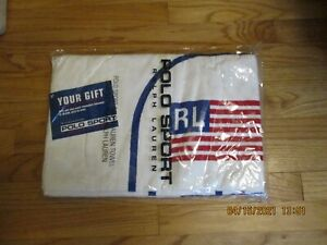 Vtg Ralph Lauren Polo Sport Towel w/USA Flag Exclusive Your Gift Beach Towel New