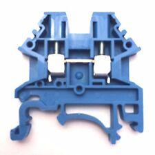 DIN Rail Terminal Blocks 10 Quantity DK2.5N-BL Blue Dinkle 12 AWG Gauge 20A 600V