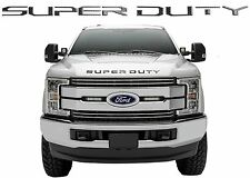 Front Carbon Fiber Super Duty Grill/Hood Letters For 2017+ F250/F350/F450 New